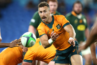 Nic White will start at halfback as the Wallabies look to make it a double against the world champion Springboks.
