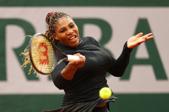 Serena Williams didn't drop a game in the second set of her opening-round match.