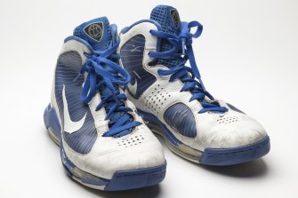 'He was straight and I wasn't':  basketball shoes from The Museum of Broken Relationships.