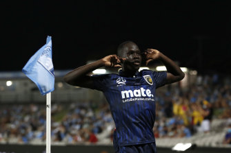 Emerging Central Coast Mariners star Alou Kuol is one of the many young stars who has lit up this new A-League season, one of the best in recent memories.