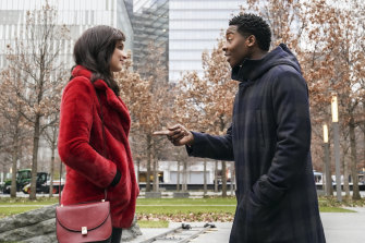 Ruby Modine as Anna and Brandon Micheal Hall as Miles Finer in God Friended Me, screening on Seven.