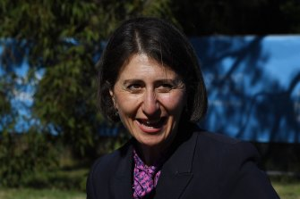 NSW Premier Gladys Berejiklian at the site of which will be Australia's first palliative care hospice for young people living with an incurable illness or condition.