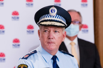 NSW Police Commissioner Mick Fuller has encouraged his officers to crack down hard.