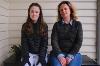 Kellie Falck kept her daughter Sofia out of Gisborne Secondary College on Monday.