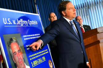 US attorney Geoffrey Berman details the new charges against Epstein.