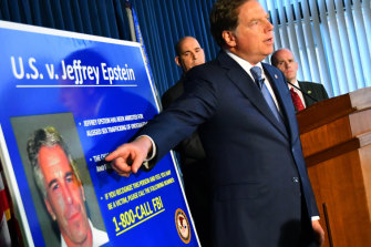 US attorney Geoffrey Berman details new charges against Epstein in July.