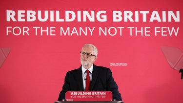Britain's Labour leader Jeremy Corbyn.