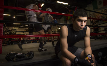 The private school of hard knocks: Markovic, 15, attends Trinity Grammar.