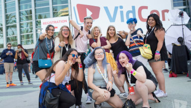 Events such as VidCon are opportunities for fans of content creators to meet them and for the creators to sell merch.