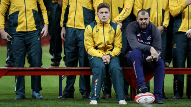 Tough tour: Wallabies coach Michael Cheika and captain Michael Hooper contemplate another difficult spring tour.
