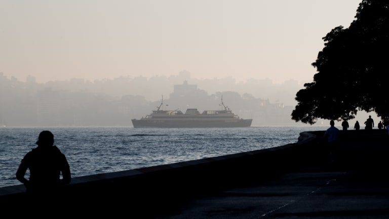 Air quality in parts of Sydney was more than two times the hazardous level.