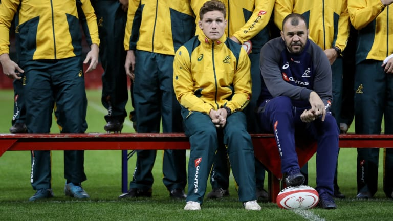 Waiting game: Michael Cheika and high-performance boss Ben Whitaker will both present end-of-season reviews to the board.