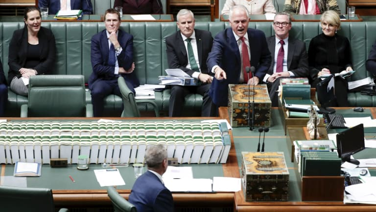 Malcolm Turnbull and Bill Shorten in Question Time on Tuesday.