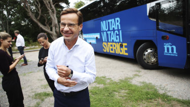 Sweden's Moderate Party leader, Ulf Kristersson.