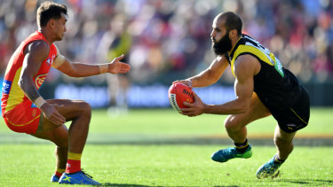 Welcome return: Bachar Houli was back for the Tigers.