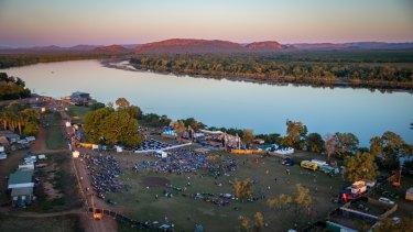 The Aviair HeliSpirit Kimberley Moon Experience site on the banks of the Ord River, Kununurra.