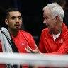 Nick Kyrgios joins McEnroe to face Federer-Nadal dream team
