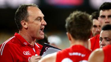 Swans coach John Longmire is a fan of shorter quarters in the AFL.