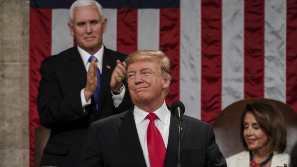 Trump calls for end to division, then launches right into it