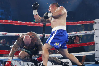 Paul Gallen knocked out Lucas Browne within two minutes on Wednesday night.