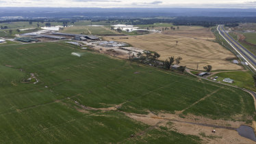 Land near the Western Sydney Airport was bought for more than $30 million, while a similar parcel of land cost just $3 million.