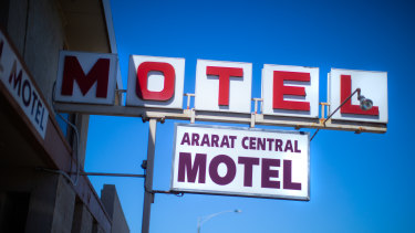 The iconic sign for the Ararat Central Motel in, you guessed it, western Victoria.