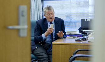 Oncologist Professor Martin Tattersall in his consulting rooms.