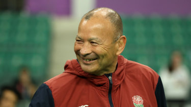 Eddie Jones is a happy camper as England prepare for a semi-final this Saturday against the All Blacks.