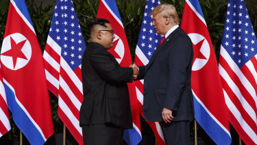 Historic: President Donald Trump meets with North Korean leader Kim Jong-un.