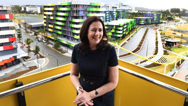 The premier and her ministers didn't stay in the athletes' village, but at the Gold Coast's lavish hotels.