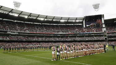 The MCG was nearly full again for Anzac Day footy.