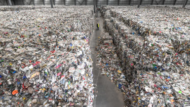 A Melbourne warehouse where thousands of tonnes of waste was dumped.