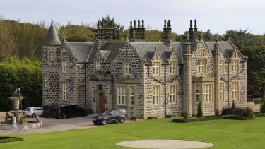 MacLeod House, a 16-room boutique hotel, at the Trump International golf course in Balmedie, Scotland.
