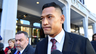 Israel Folau is hoping to return to the game in which he made his name.