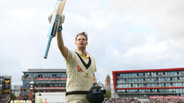 Steve Smith after his double hundred at Old Trafford.