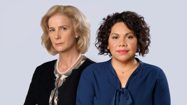 Rachel Griffiths (left) and Deborah Mailman star in a new season of the acclaimed drama, Total Control.