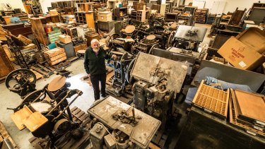 Michael Isaachsen's life mission has been the creation of the Melbourne Museum of Printing. He amassed an enormous collection over several decades.