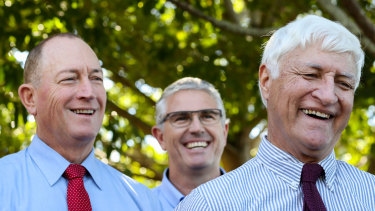 Fraser Anning (left) and Bob Katter (right).