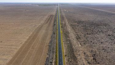 Drought stricken country near Walgett.
