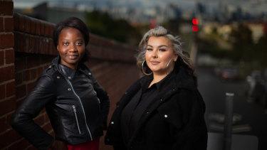 Western Edge Youth Arts co-artistic director Tariro Mavondo, left, and visual artist Rosie Kalina.