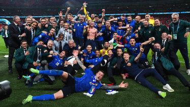 Italy win the Euro 2020 championship at Wembley.