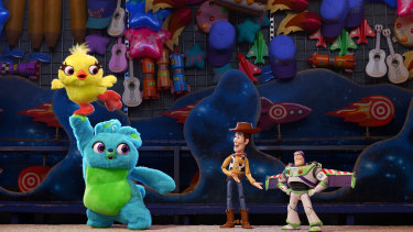 Woody and Buzz find themselves at a carnival.