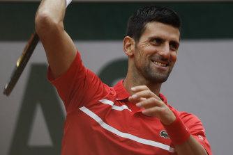 Novak Djokovic won the opening set in just 22 minutes.