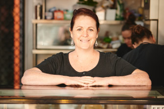 Glo Juice cafe owner Amanda McGrath.