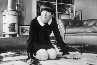 Mary Quant, one of the leading lights of the British fashion scene in the 1960s.