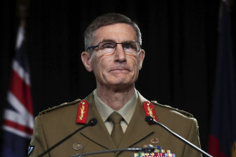 Chief of the Defence Force General Angus Campbell has been criticised for comments to young military recruits.