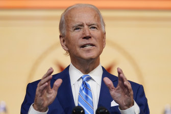 Georgia's Secretary of State said a recount had confirmed that Joe Biden, pictured, had won the state.