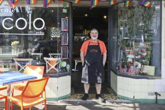 Cafe owner Tony Piccolo who started his his Erskineville cafe at the age of 52.