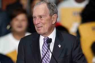 Democratic contender Michael Bloomberg.