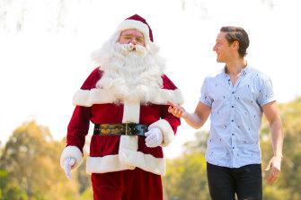 David Venn with Santa.